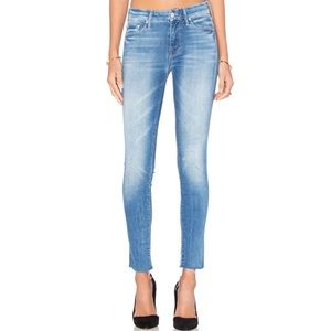 NWT Mother The Looker Ankle Fray Jeans